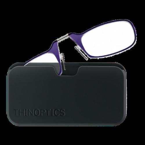 Купить Очки для чтения Thinoptics +2.00 Фиолетовые + Чехол универсальный Черный (2.0PUBUP)