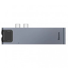 Адаптер Baseus Thunderbolt C+Pro 7 in 1 smart HUB Docking Station Grey (CAHUB-L0G)