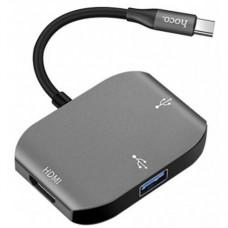 Адаптер Hoco HB7 Yito Type-C to HDMI+USB3.0+USB2.0