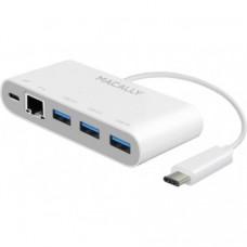 Адаптер USB Macally 3 Ports USB 3.1/USB-C Ethernet (UC3HUB3GBC)