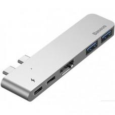 Адаптер Baseus Thunderbolt C+ Dual Type-C to USB3.0/HDMI/Type-C Hub Space Grey