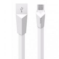 Кабель Hoco X4 Zinc Alloy Rhombus USB to microUSB 1.2 м White