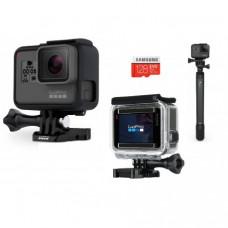 Видеокамера GoPro HERO6 Black + Монопод EL GRANDE + Boks Armageddon + Samsung MicroSD 128GB