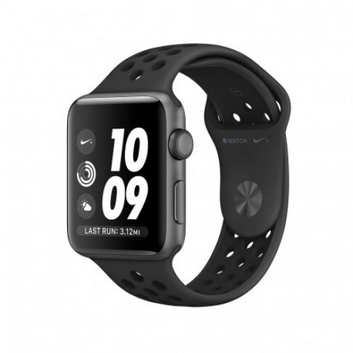 Купить Apple Watch Series 3 Nike+ 38mm (GPS) Space Gray Case with Anthracite/Black Nike Sport Band (MTF12)