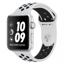 Apple Watch Series 3 38mm (GPS) Silver Aluminum Case with Pure Platinum/Black Nike Sport Band (MQKX2)