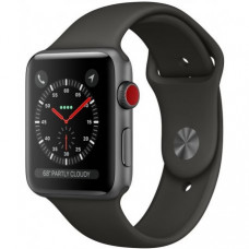 Apple Watch Series 3 38mm (GPS+LTE) Space Gray Aluminum Case with Gray Sport Band (MR2W2)