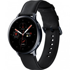 Умные часы Samsung Galaxy Watch Active 2 44mm Stainless steel Black (SM-R820NSKASEK) + Карта памяти на 128Gb в подарок!