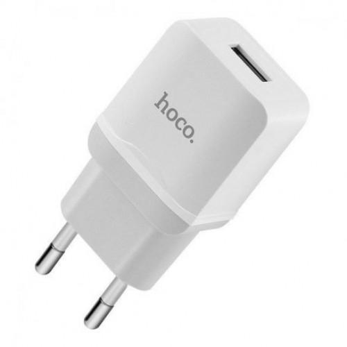 Купить Сетевое зарядное устройство Hoco C27A Home Charger Solo USB 2.4A White
