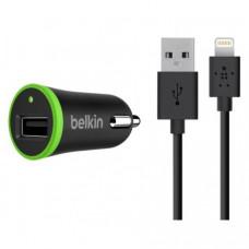 Автомобильное зарядное устройство Belkin Micro-USB Charger 12В + Lightning cable-USB Black (F8J026bt04-BLK)