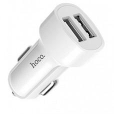 Автомобильное зарядное устройство Hoco Z2A 2USB 2.4A White
