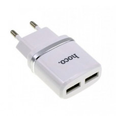 Сетевое зарядное устройство Hoce C12 Dual USB Charger 2.1A White