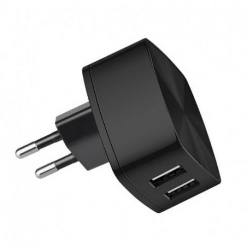 Купить Сетевое зарядное устройство Hoco C26 Mighty Power 2USB 2,4A Black